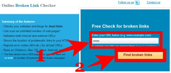 Broken Link Checker Tool