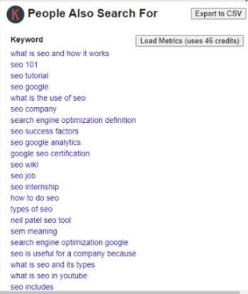keywords everywhere